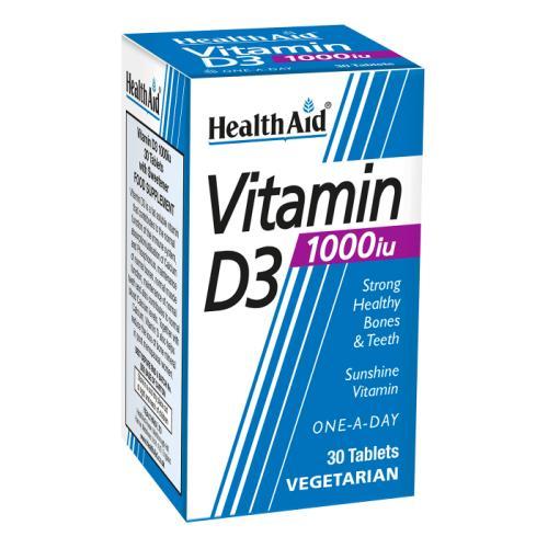Health Aid Vitamin D3 1000IU / Health Aid Витамин Д3 1000IU