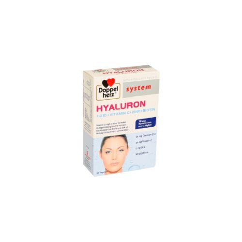 Doppel herz Hyaluron + Q10 + Vitamin C+ Zink + Biotin
